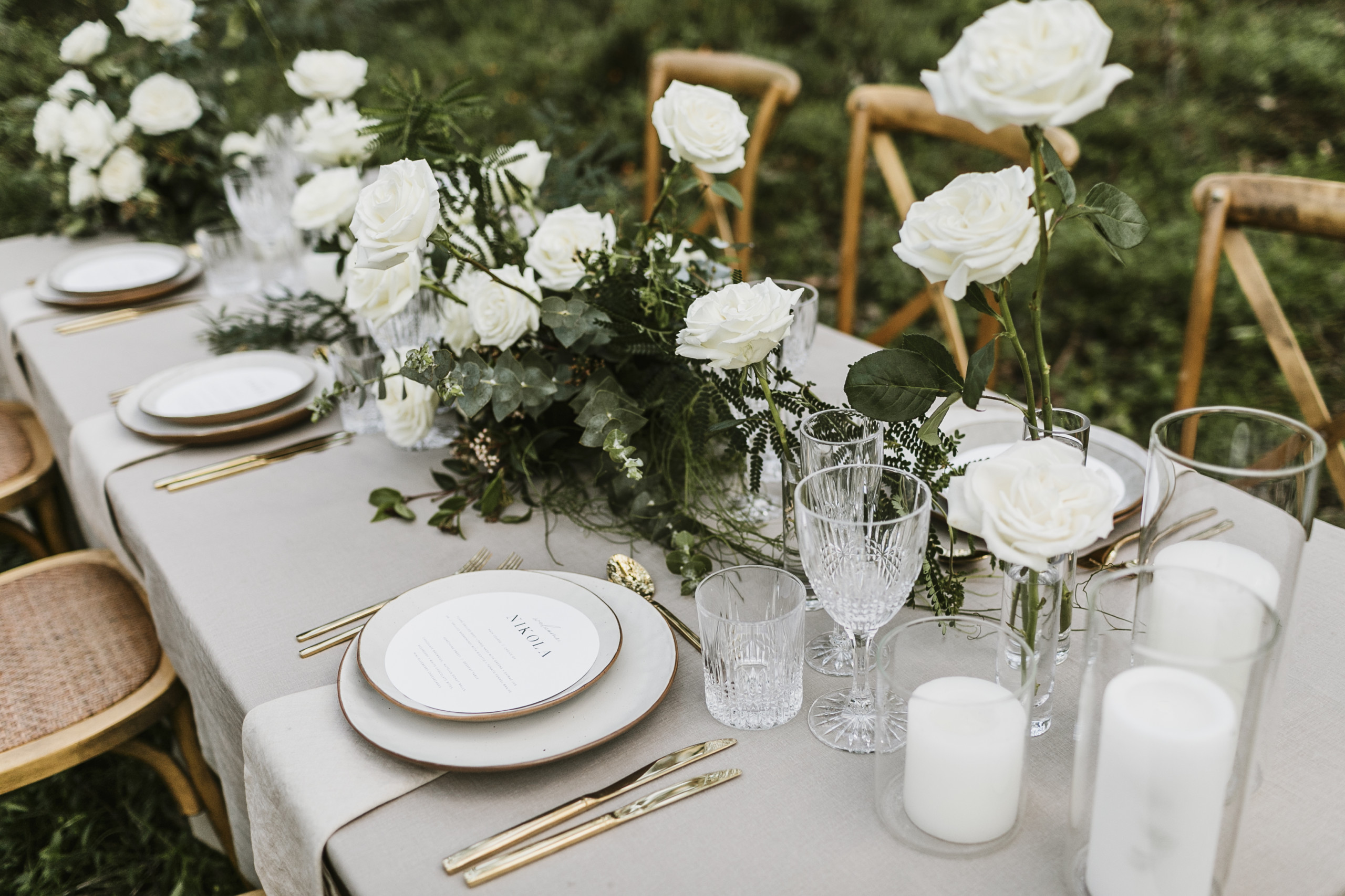wedding crockery glassware linen