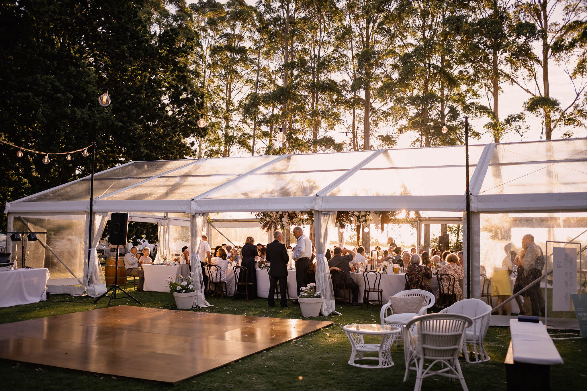 clear marquee