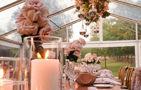 country wedding tableware